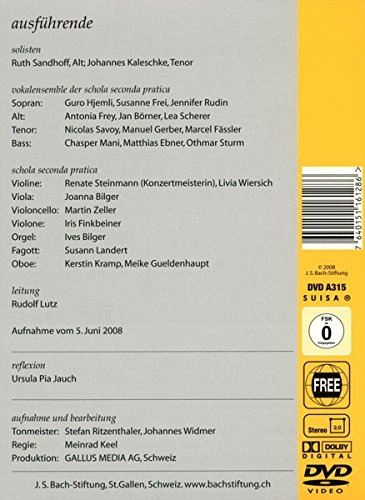 Cantata BWV 48 - Details & Discography Part 1: Complete